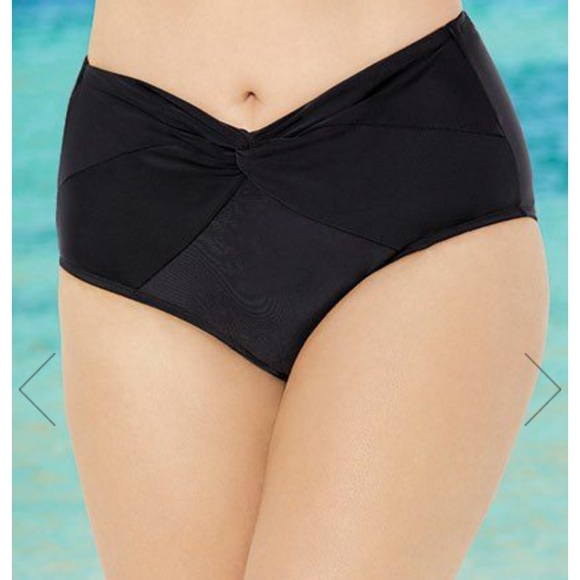 Swimsuits For All Other - Black Low Waist Twist Front Brief